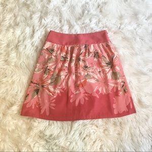 The Limited Floral A-line Knee Length Skirt